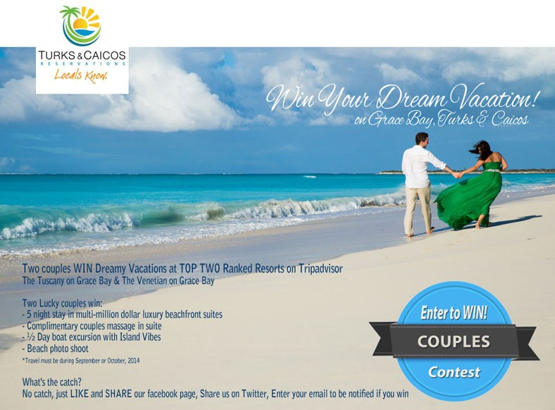 DREAM VACATION to the Turks & Caicos Islands!