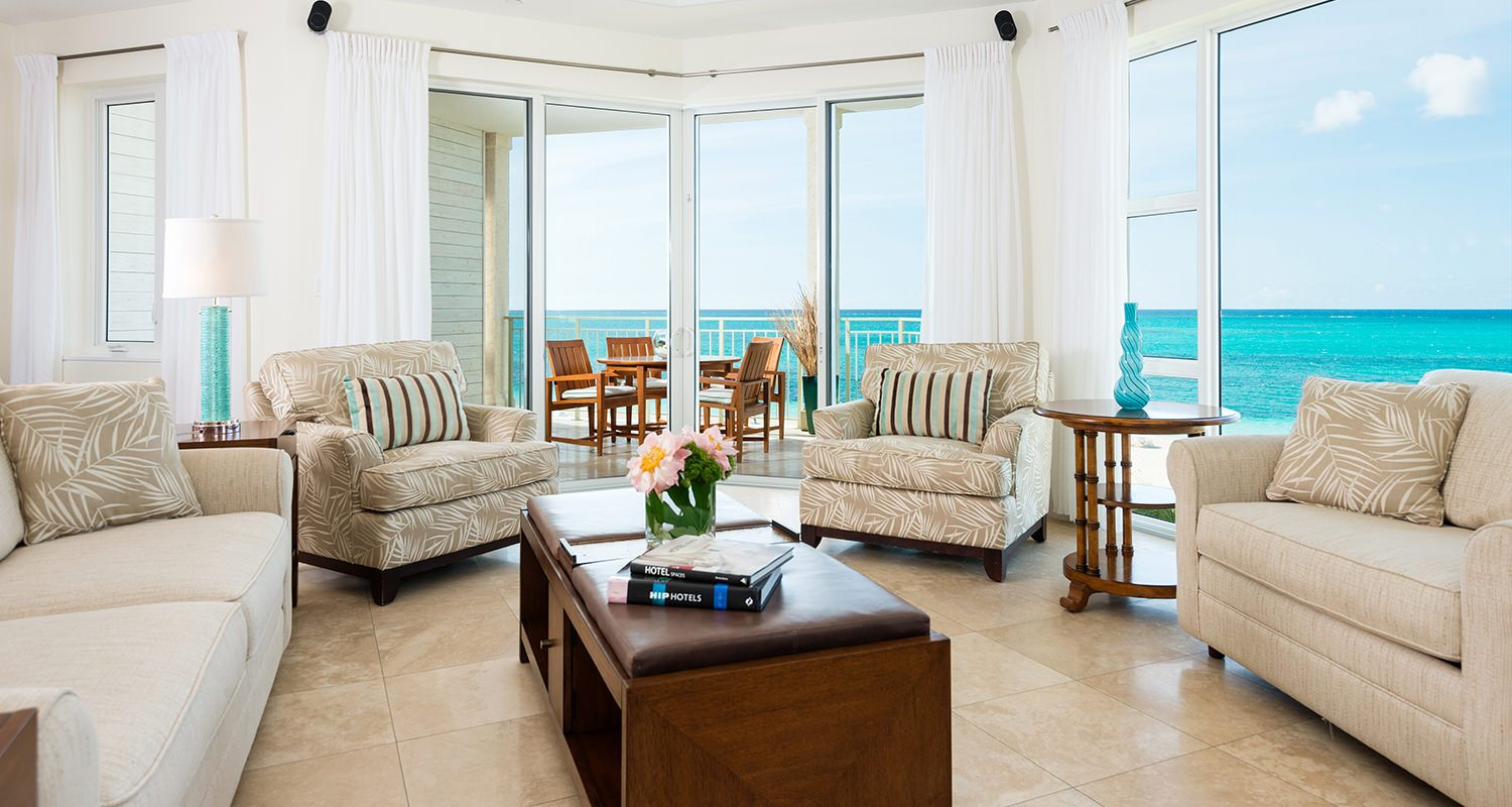 West Bay Club Turks and Caicos - Ocean Front Luxury 1 Bedroom Suite-Living room