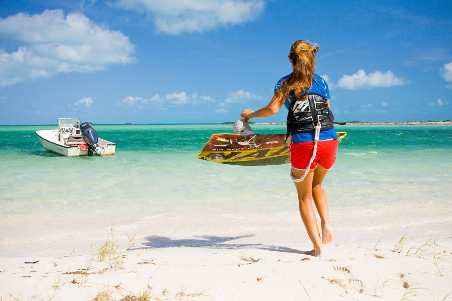 Kite surfing on Providenciales