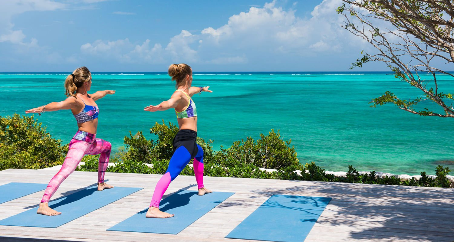 Yoga can be arranged at your villa or at the Pavillion